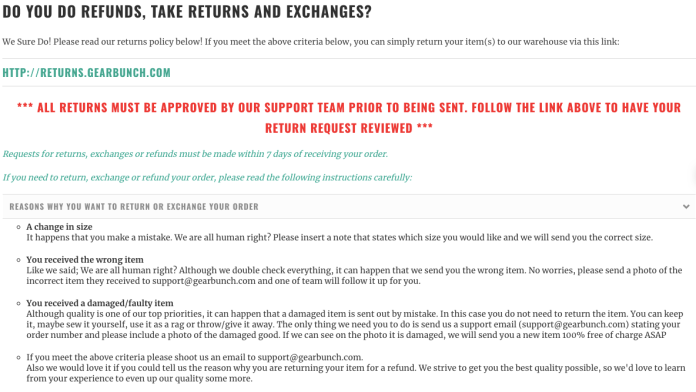 2ee7ce80e1ce Ecommerce   Dropshipping Return Policy Templates  examples  - Storehacks
