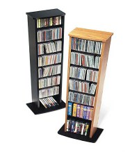 Black Slim Multimedia Storage Tower