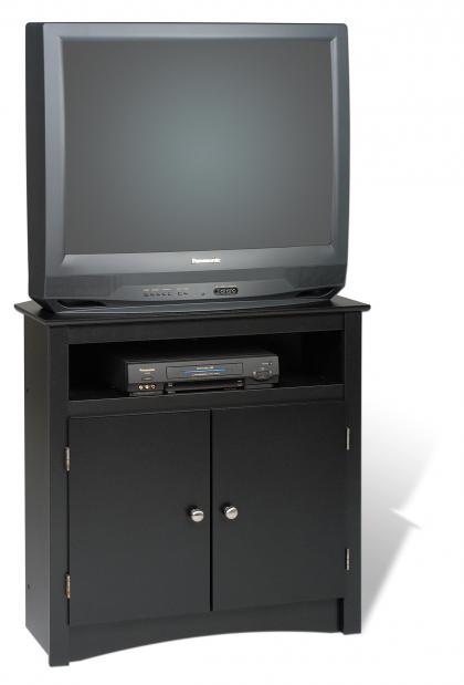 Black Tall Corner TV Cabinet