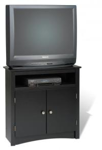 Black Tall Corner TV Cabinet