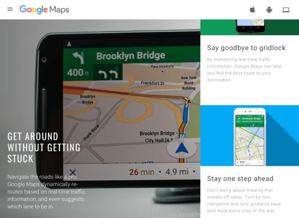 Google Maps marketing site