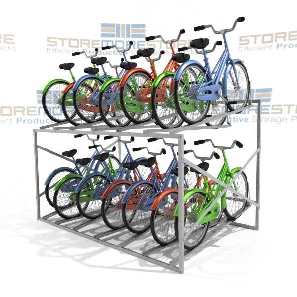 large metal bike rack stores 14 bicycles 8 wide x 5 8 deep x 3 11 high sms 79 bk814