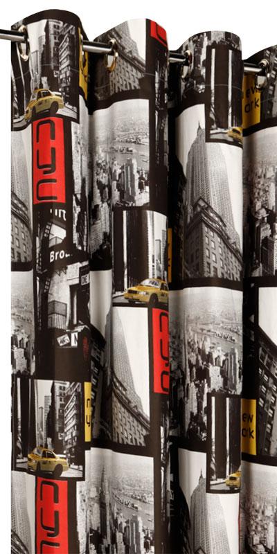 Rideaux New York  Londres sur mesure  Achat de rideaux pour ados
