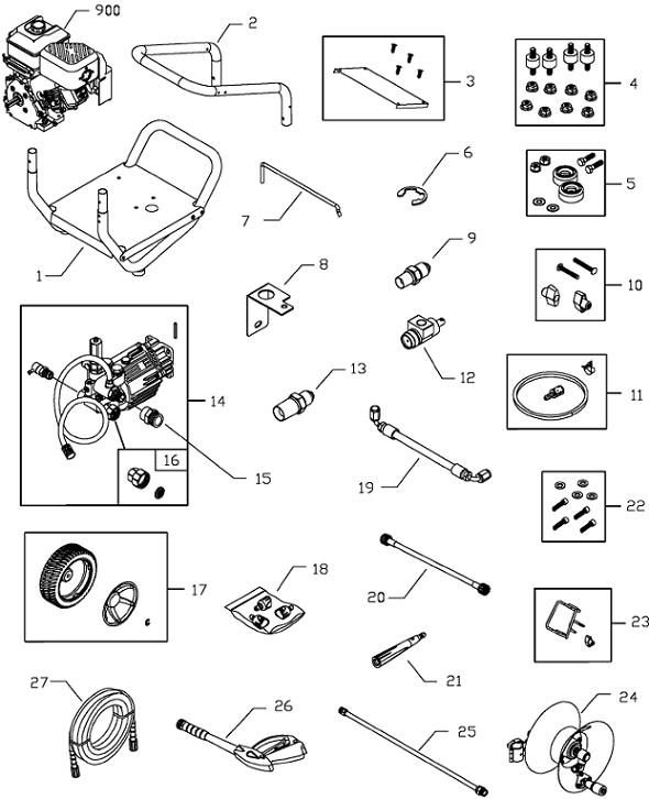 Sears Craftsman Model 020299 Pressure Washer Replacement