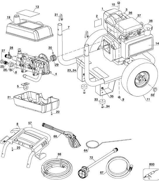 Xc2600 Pressure Washer Replacement Parts