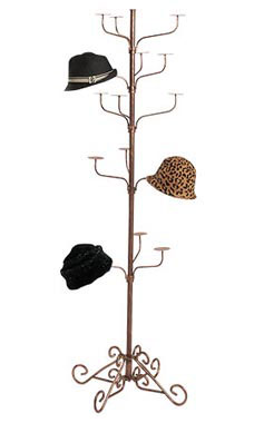 Boutique Cobblestone 5 Tier Hat Display Rack Store