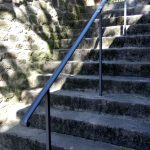 New handrail installed by specialist contractors, Mortimer Fabrications, as part of the Lancashire Environmental Fund project.