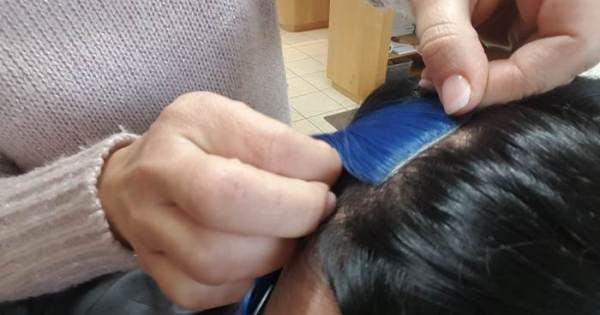 TriTec-Hair Color-Spots anbringen Frisör