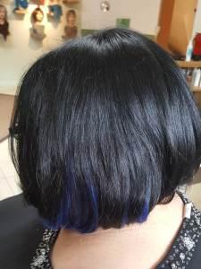 Haare mit Tri Tec Color Spots blau
