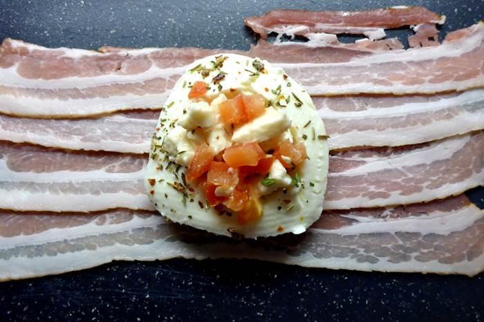 Zubereitung LowCarb Mozzarella-Bombe