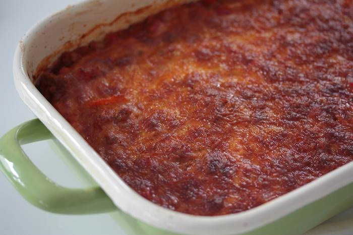 LowCarb - Paprika Bolognese Auflauf Rezept low carb