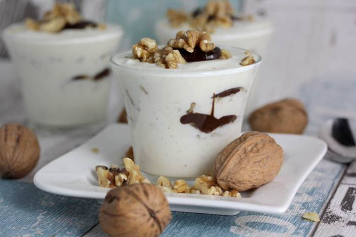 Walnuss-Quark-Dessert low carb-lowcarb-Rezept-Walnuss-abnehmen-Protein
