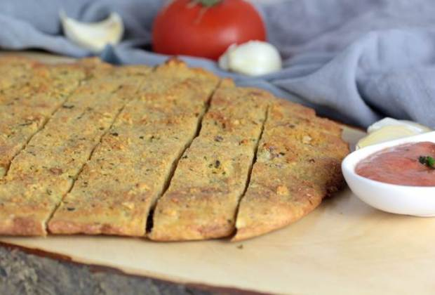 Pizzabrot-Knoblauchbrot-low carb-Rezept