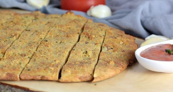 Pizzabrot-Knoblauchbrot-low carb-Rezept