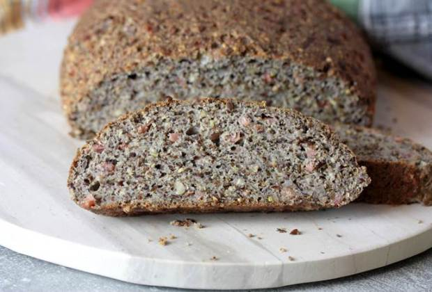 Zwiebel-Speck-Brot low carb-low carb Brot-lowcarb-Rezept