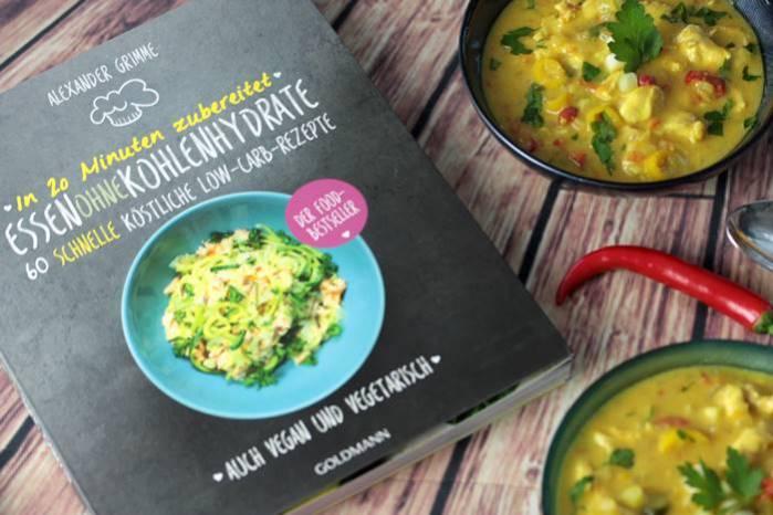 Essen ohne Kolhlenhydrate-Rezension-Buchtipp-Kochbuch-low carb