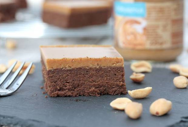 Low Carb Peanut Butter Brownies-Rezept-Erdnussbutter Brownies low carb-Low Carb Rezept deutsch