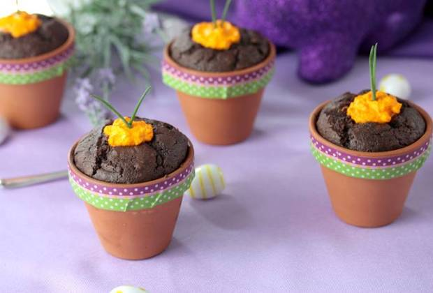 Schoko Muffins Low Carb-Rezept-lowcarb-Ostern-Muffins im Tontopf