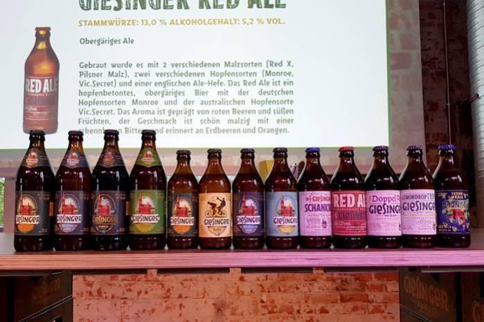 Giesinger Bier Sorten
