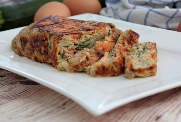 Zucchini-Lachs-Auflauf-Rezept-Low Carb