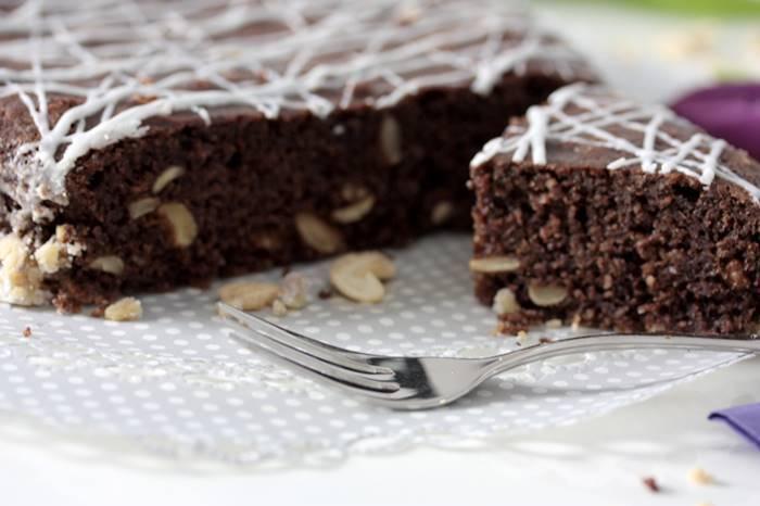 Schoko Nuss Kuchen-Low Carb Kuchen Rezept-lowcarb-Schokokuchen