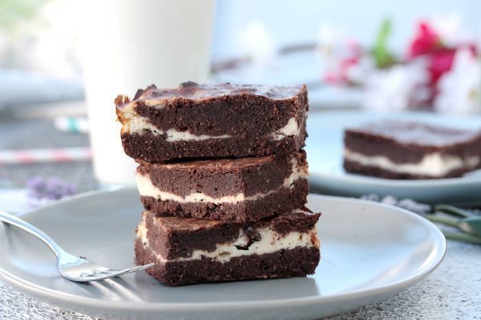 Milchcreme Brownies Low Carb-lowcarb Rezept-Brownie Rezept