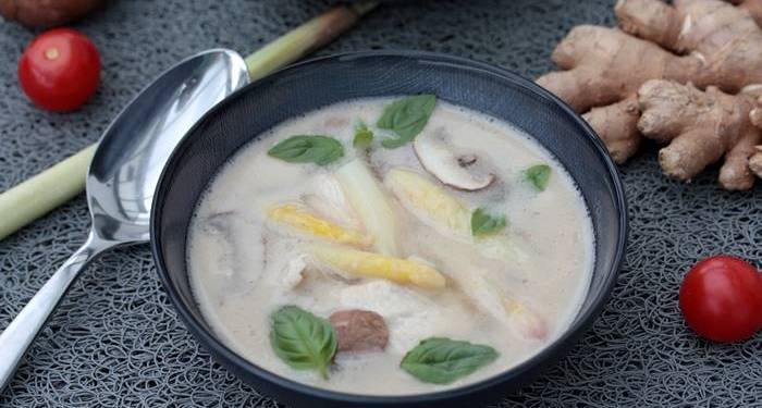 Spargel Kokos Suppe-Low Carb Spargel Rezept-Low Carb Suppe