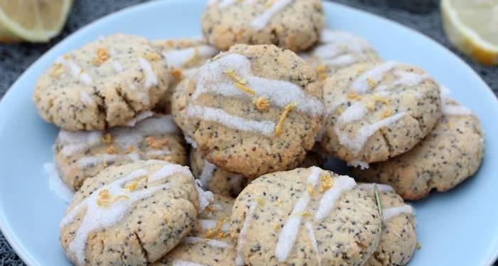 Low Carb Zitronen Mohn Kekse-Plätzchen-zuckerfreie Plätzchen
