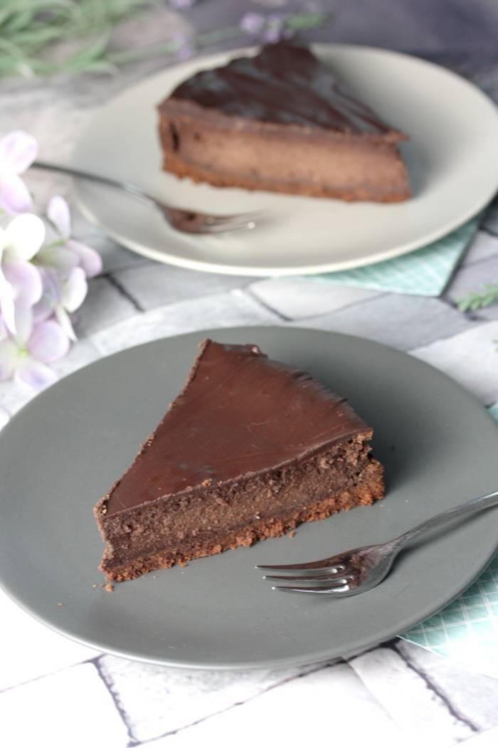 Low Carb Schoko-Cheesecake-Schokoladen Käsekuchen-zuckerfrei