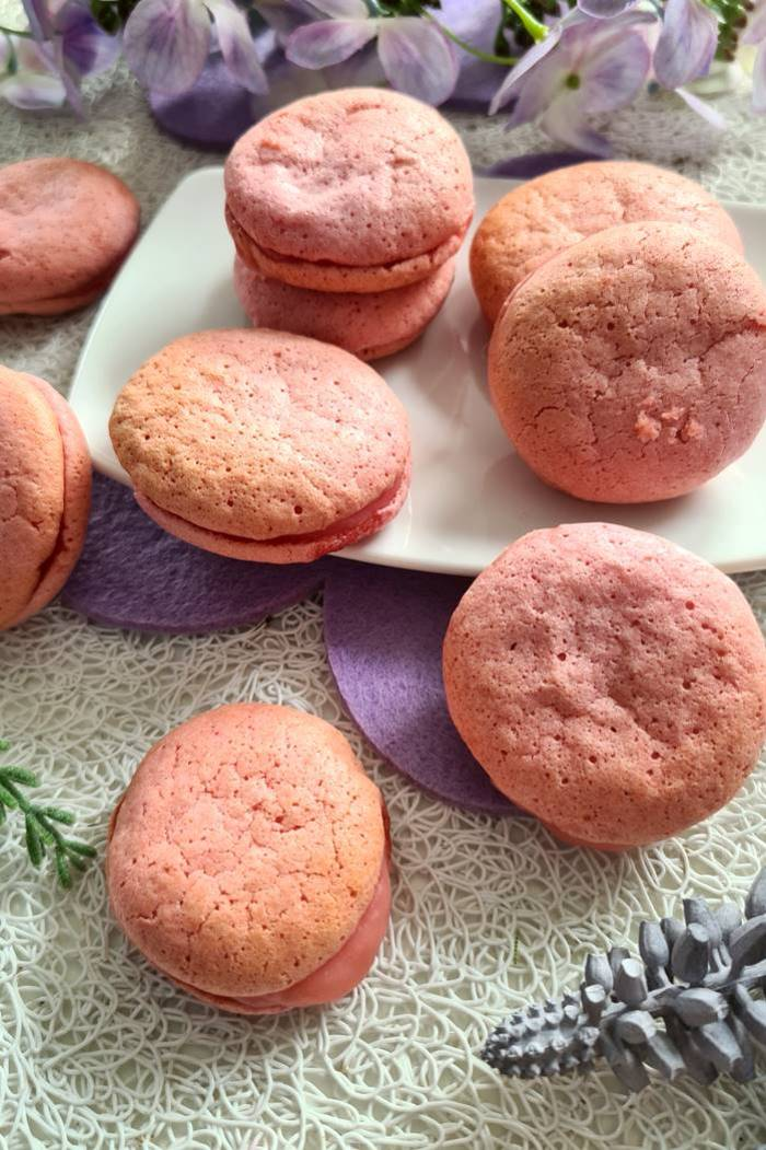 ow Carb Macarons-Himbeer Macarons ohne Zucker