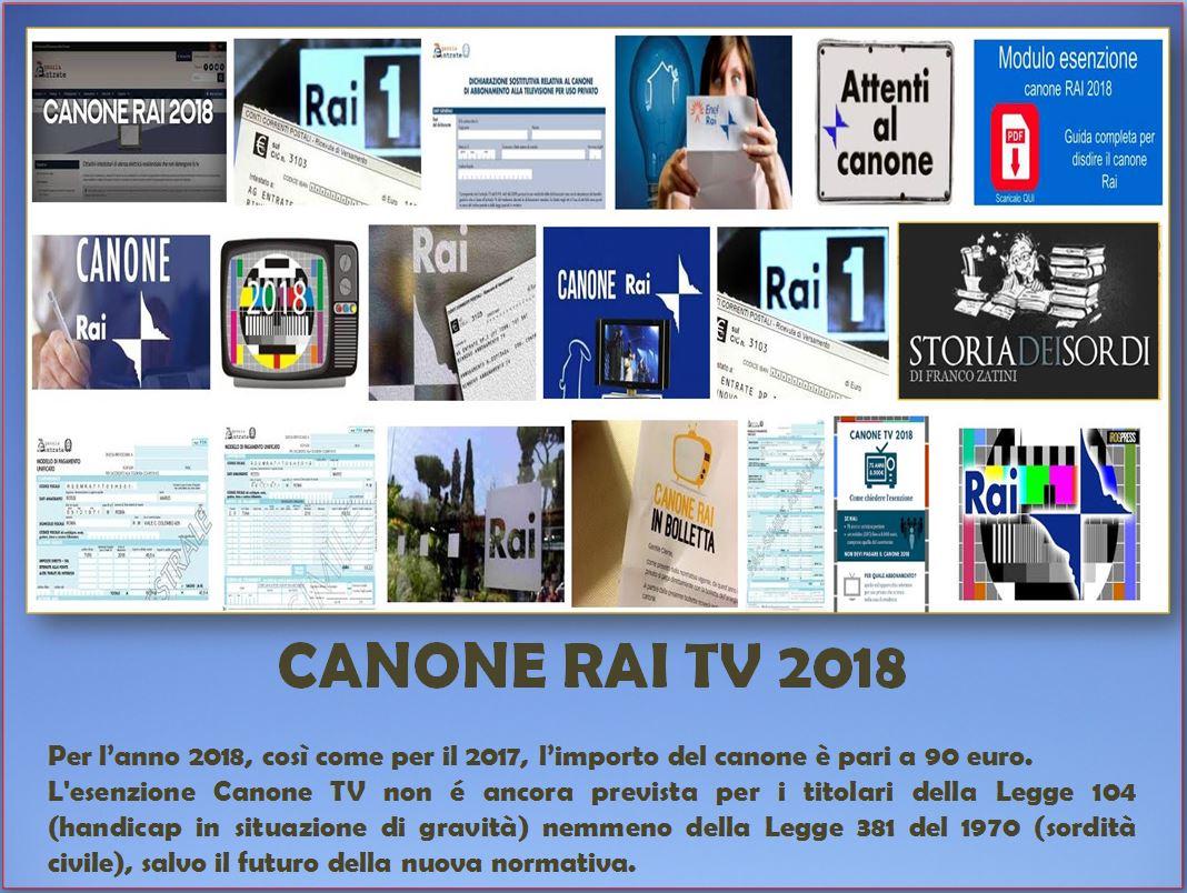 Esenzione Canone Tv 2018 E La Disabilità Storia Dei Sordi