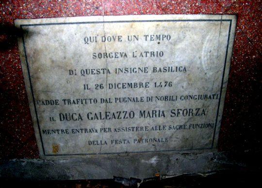 Storia di Milano  Lassassinio di Galeazzo Maria Sforza