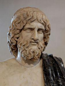 Busto di Ade, marmo, copia romana di un originale greco del V secolo a.C. (Roma, Museo nazionale romano).