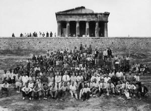Lo staff degli scavi nell'agorà del 1933