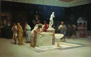 Circolo di Mecenate, dipinto di Stefan Bakałowicz, 1890, Galleria Tret'jakov, Mosca