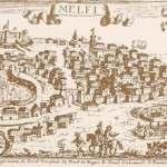 Antica stampa di Melfi, Capitale della Contea di Puglia, poi in provincia di Potenza