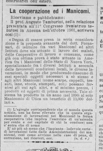 La Cooperazione Italiana 31 gennaio 1903