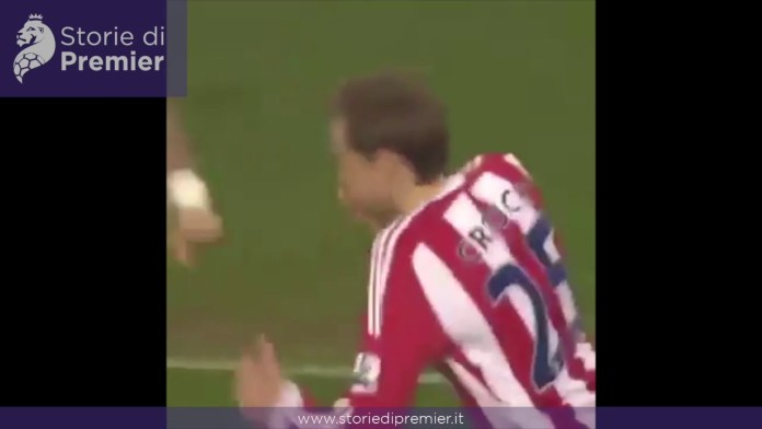 Stoke City-Manchester City, l'eurogol firmato Peter Crouch
