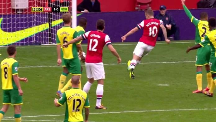 (VIDEO): La poesia Arsenal in pochi secondi, l'assurdo gol di Wilshere contro il Norwich stile PlayStation