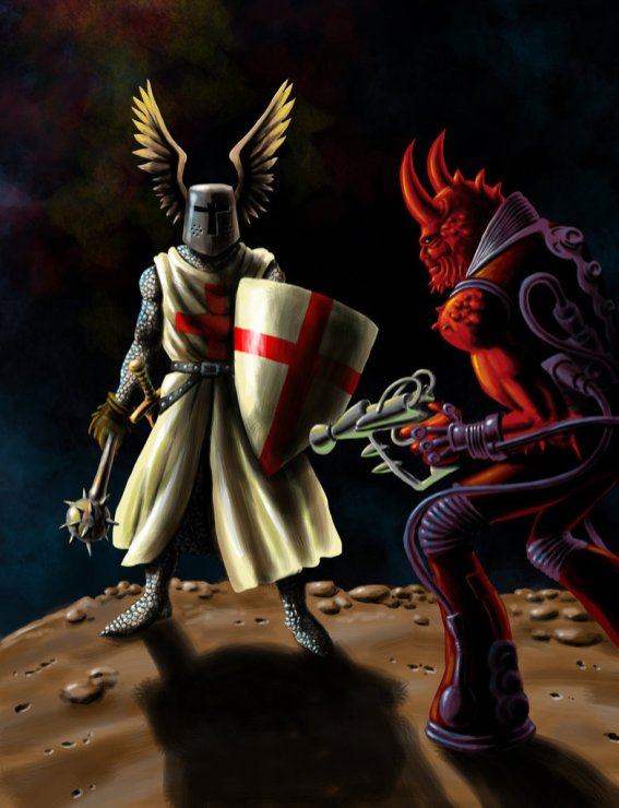Crusaders vs Demons, artwork di Marco Alfaroli