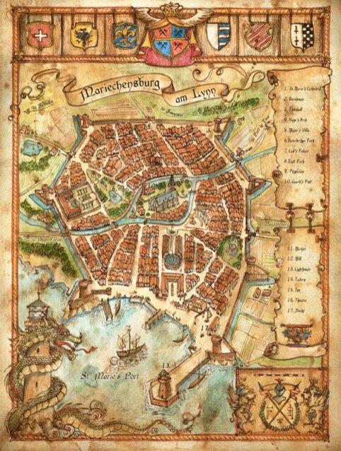 Mariechensburg Am Lynn, Mappa di Francesca Baerald