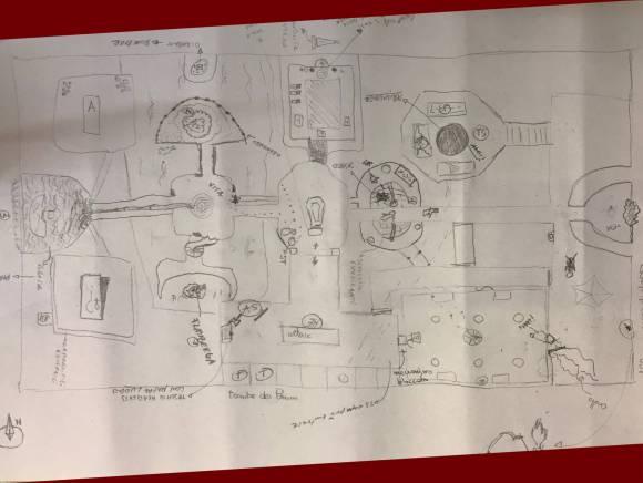 La mappa di una partita a The Skeletons