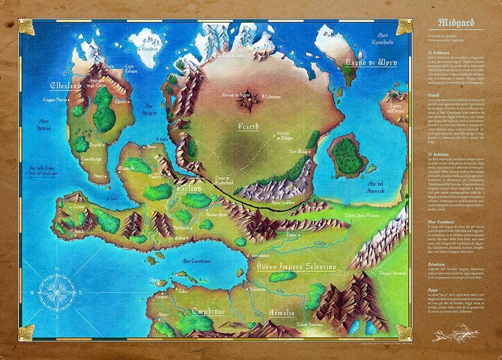 La mappa di Midgard, mondo di blood sword