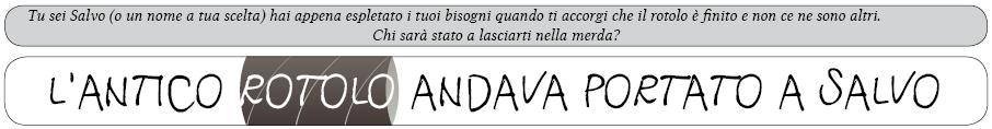 L'Antico Rotolo Andava Portato a Salvo Title Daniele Fusetto One Page RPG