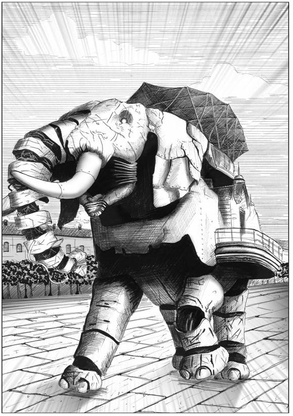 Un elefante meccanico di Alice Key e l'Origine del Mondo
