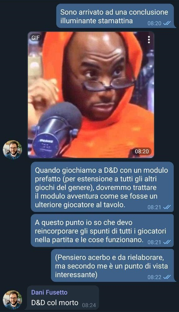 Uno screen di Telegram
