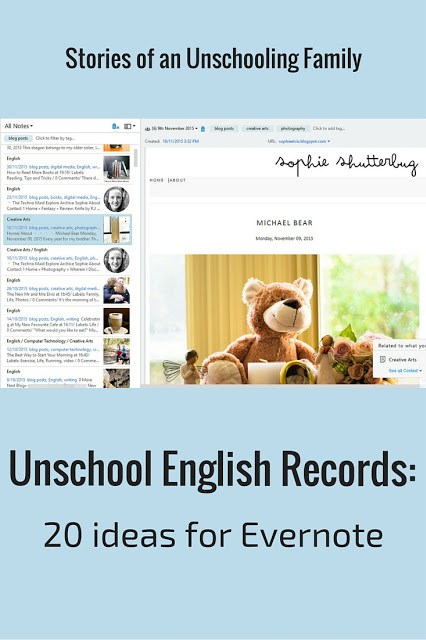 Unschool english records 20 ideas for evernote stories of an i think its a perfect method for keeping unschooling records you might already know this if youve read some of my other evernote blog posts or watched my solutioingenieria Gallery