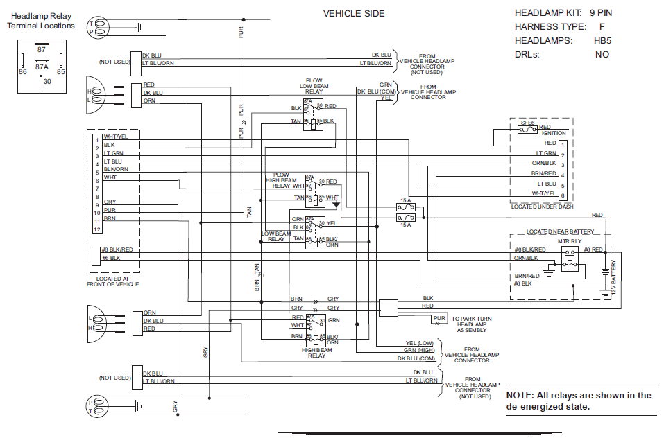 western plow wiring harness 61437 diagram