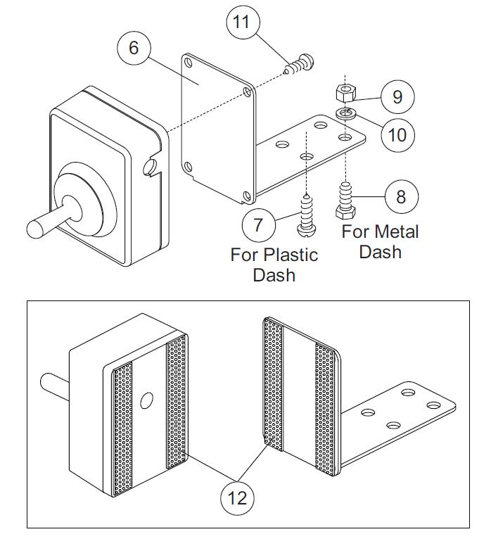 Joystick control Dash mounting bracket