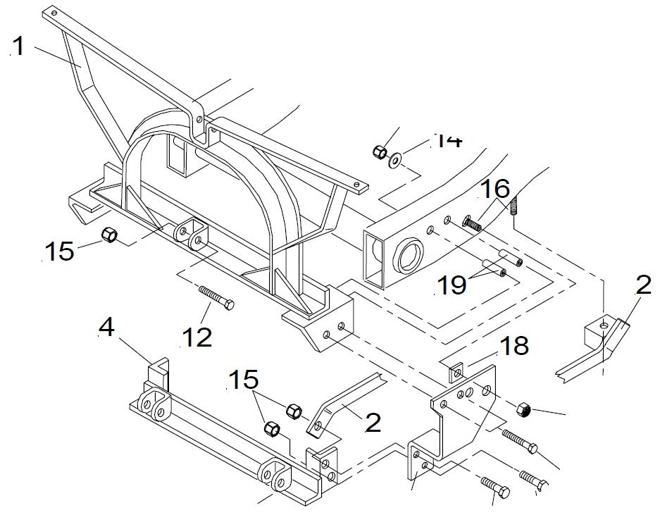 87-95 Jeep Wrangler Meyer Conventional Mount brackets